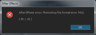 Photoshop File Format Error 3415